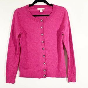 Banana Republic Magenta Pink Crewneck Wool Sweater